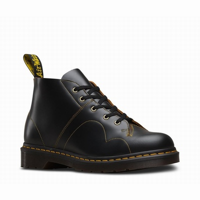 Dr Martens Church Vintage Smooth Női Bokacsizma Fekete DM-762HU